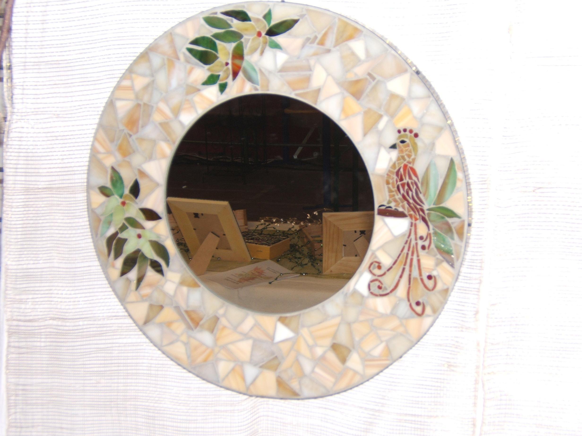 Miroir rond for Miroir rond mosaique